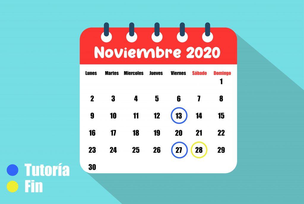 calendario noviembre proloquo2go