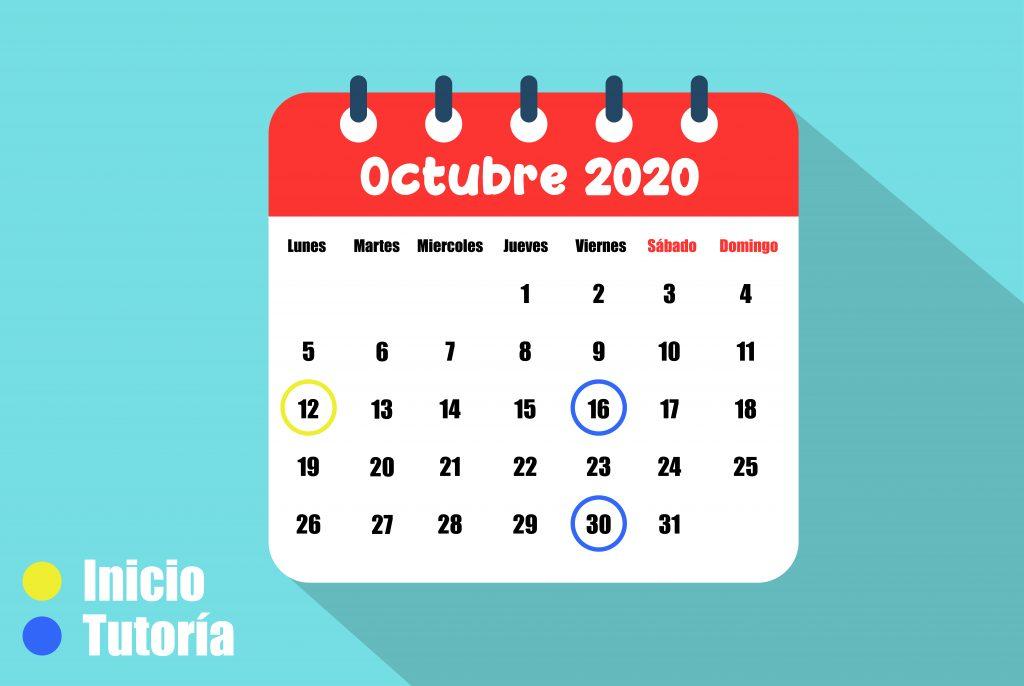 calendario octubre proloquo2go